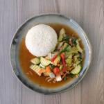 Gebratenes Gemüse mit Reis